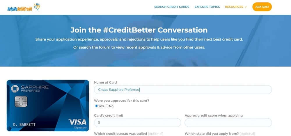 The All New Credit Card Forum And Credit Pull Database!
